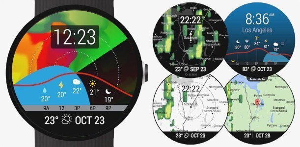 instaweather smartwatch android wear